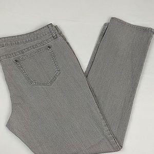 City Streets Gray Straight Leg Jeans